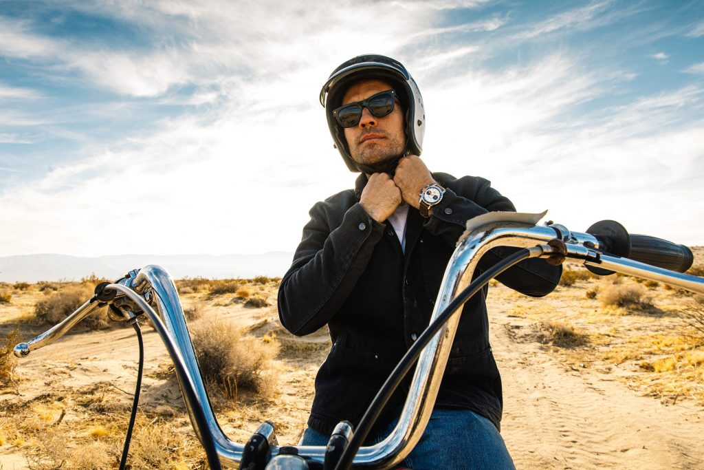 Breitling Deus Squad member, Californian surfboard shaper and off-road motorcycle racer Forrest Minchinton